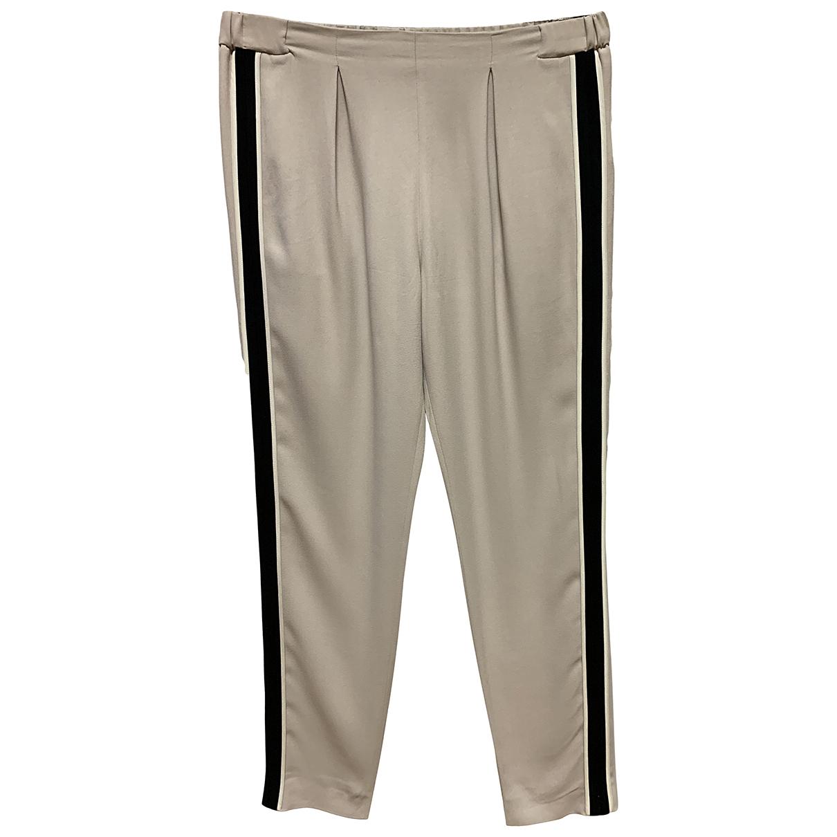 Fendi \N Grey Trousers for Women 46 IT