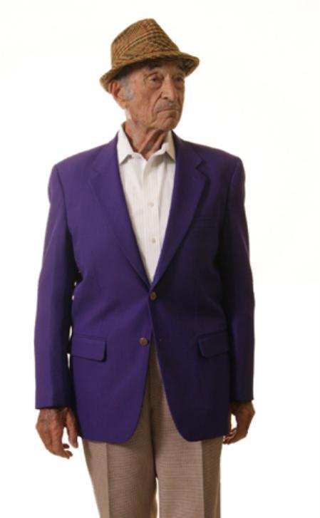 Purple blazerSingle Breasted 2 Button SolidPurple blazer