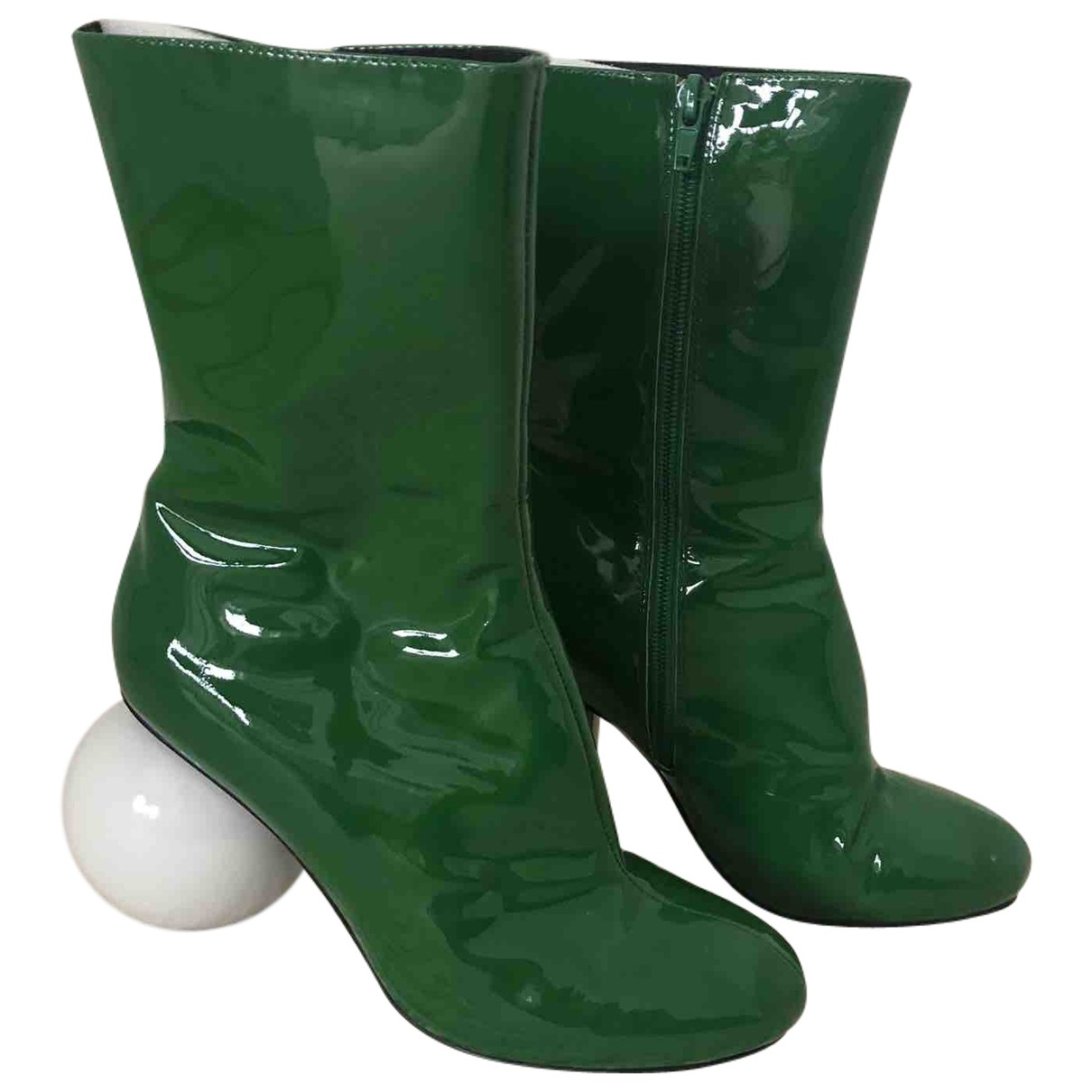 Solace London \N Green Patent leather Boots for Women 39 EU