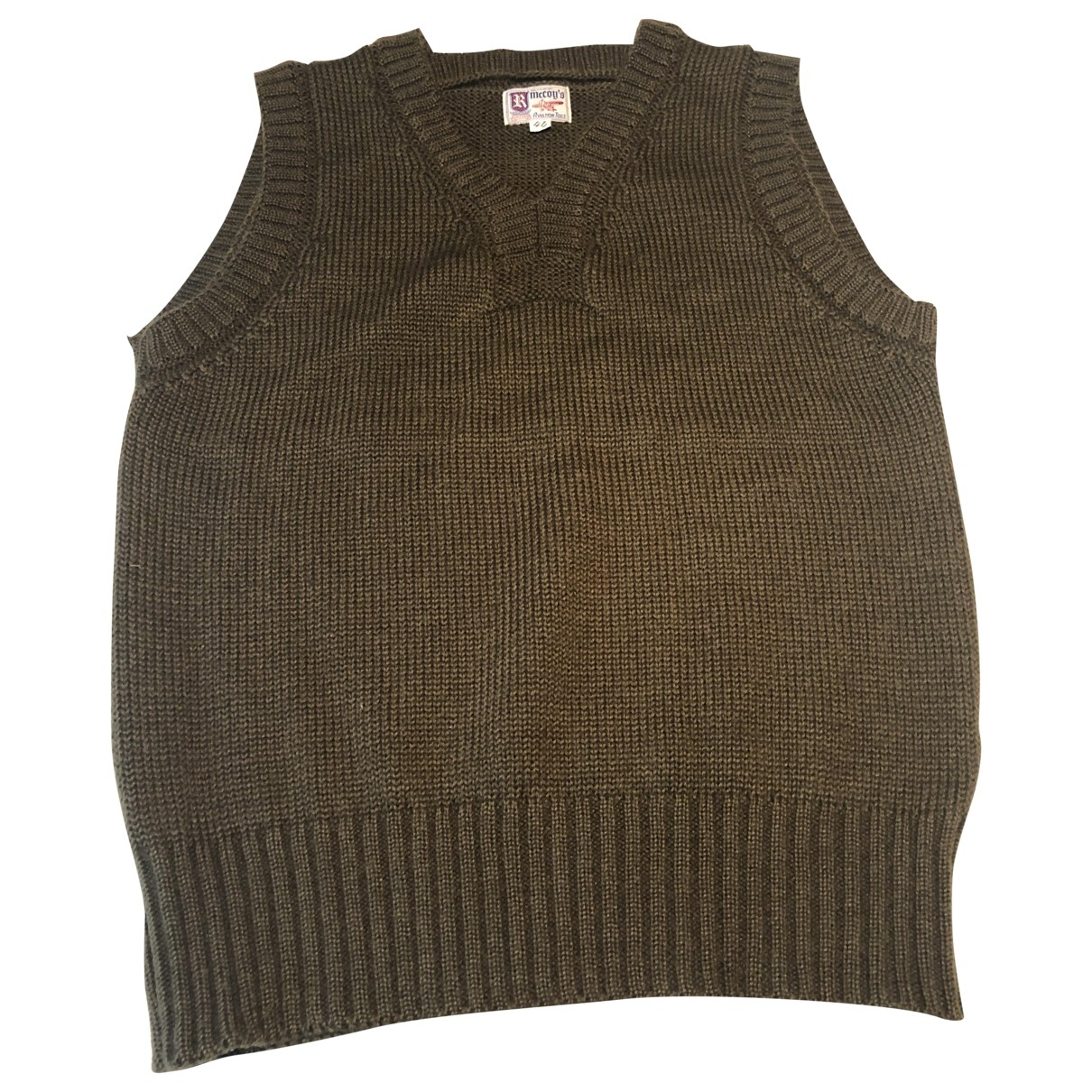The Real Mccoys \N Pullover.Westen.Sweatshirts  in  Braun Wolle