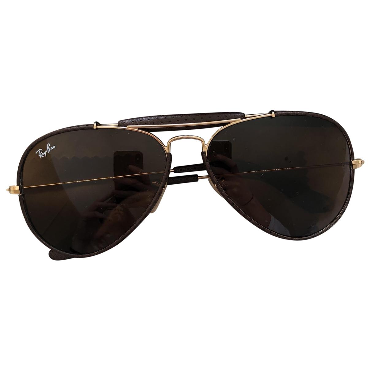 Ray-ban Aviator Brown Metal Sunglasses for Men \N