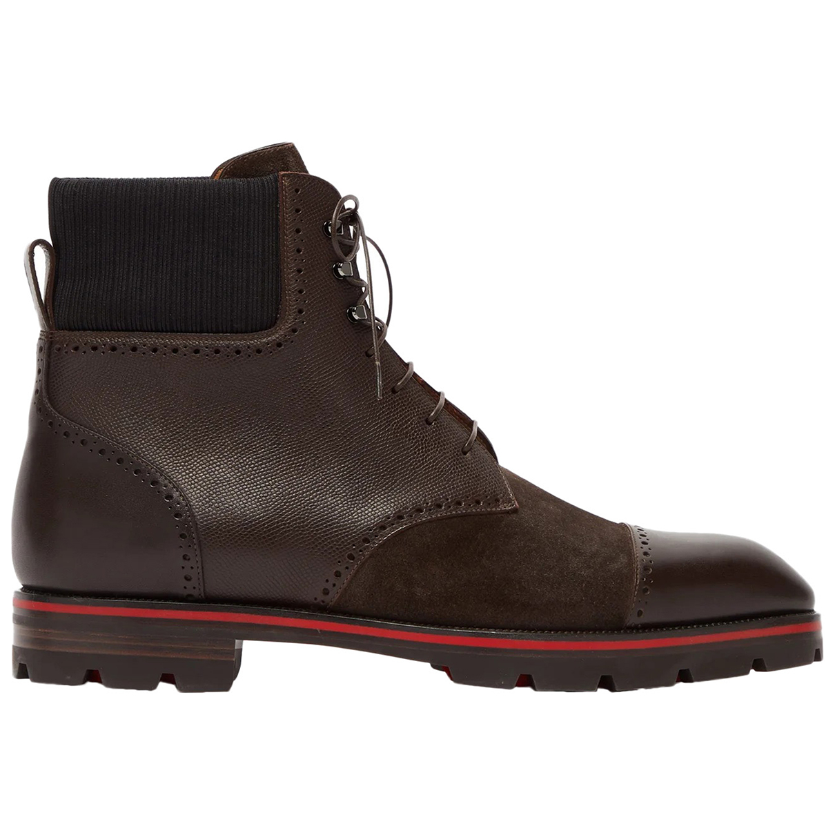 Christian Louboutin \N Brown Leather Boots for Men 41 EU
