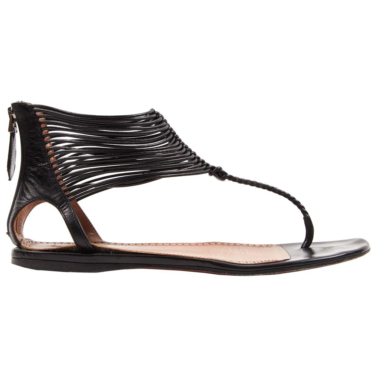 Alaia - Mocassins   pour femme en cuir - noir