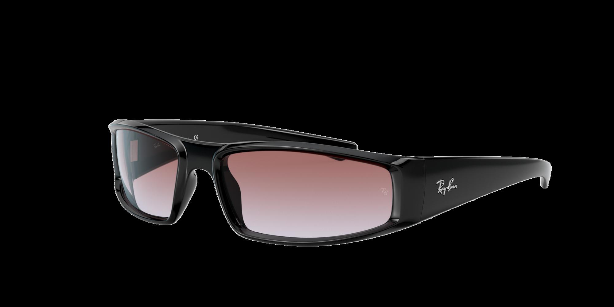Ray Ban Unisex  RB4335 -  Frame color: Negro, Lens color: Violeta, Size 58-17/130