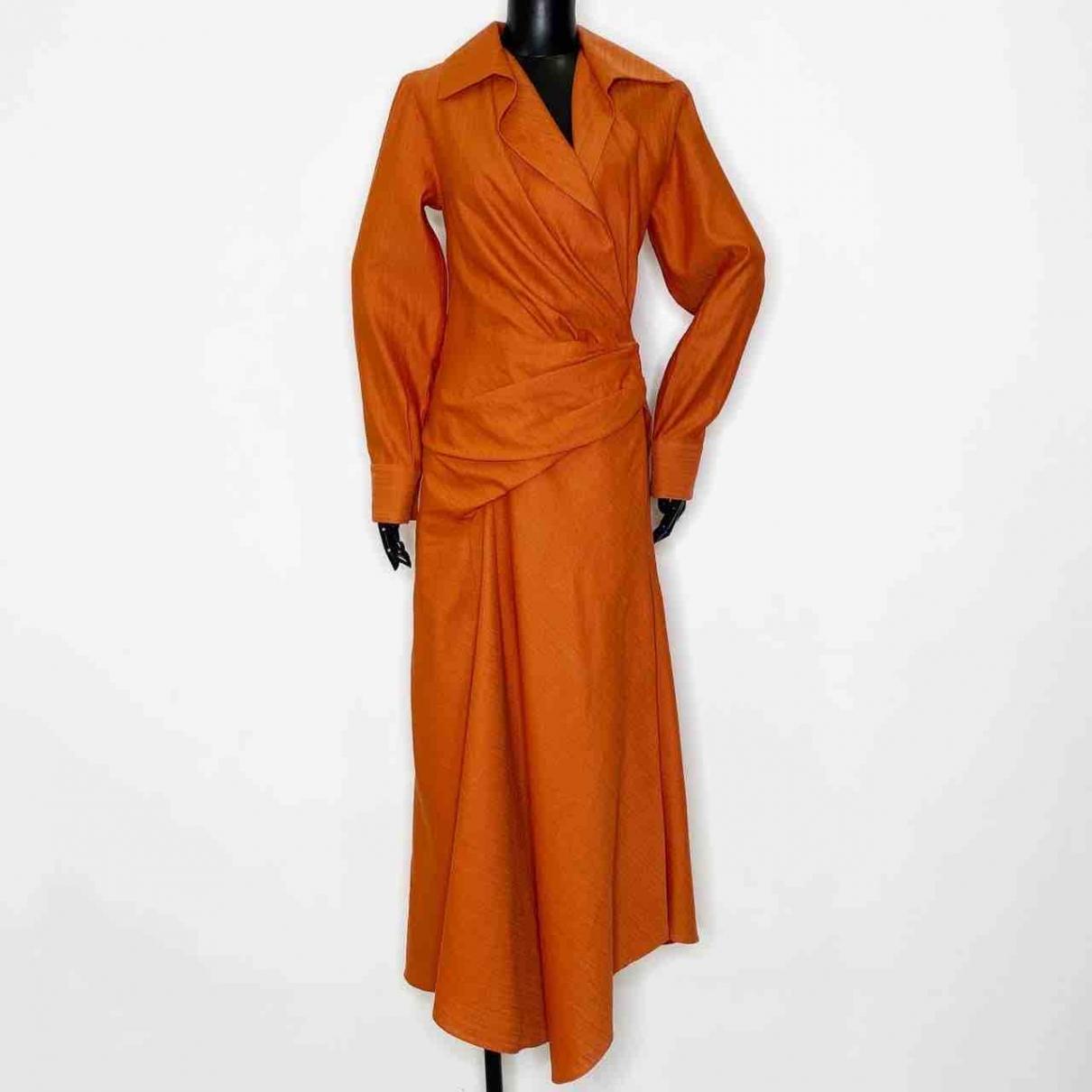 Jacquemus - Robe Le Souk pour femme en lin - orange