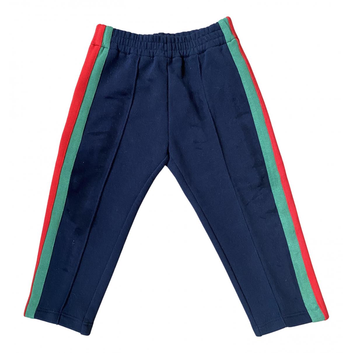 Gucci - Pantalon   pour enfant en coton - marine