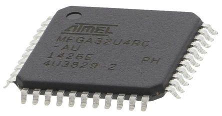 Microchip ATMEGA32U4RC-AU, 8bit AVR Microcontroller, ATmega, 16MHz, 32 kB Flash, 44-Pin TQFP
