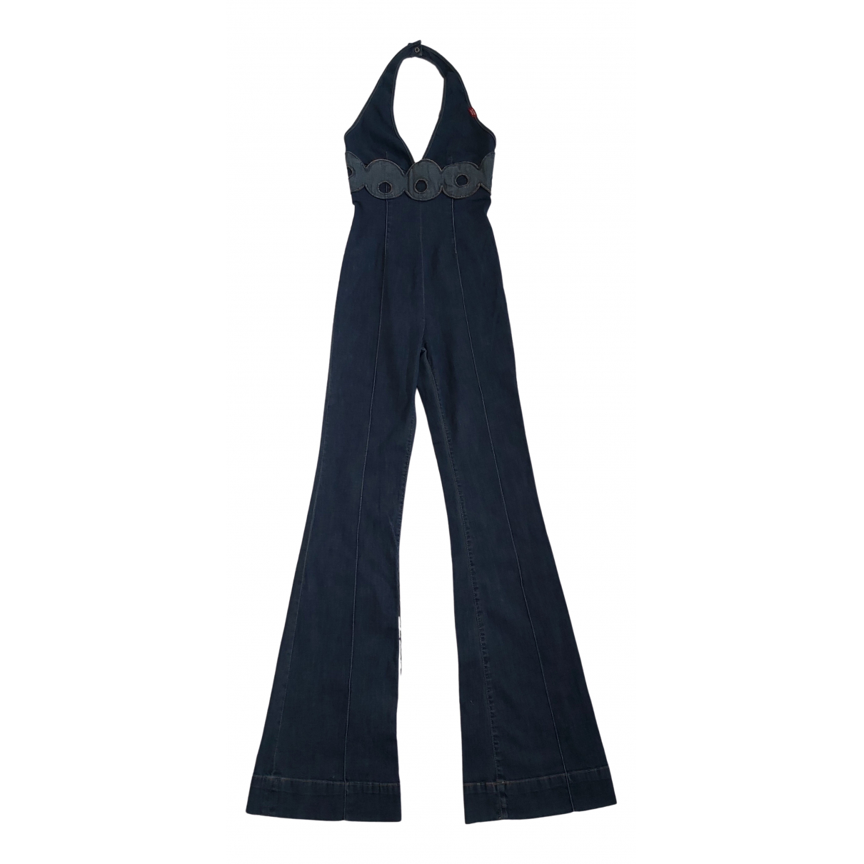 - Combinaison   pour femme en denim - bleu