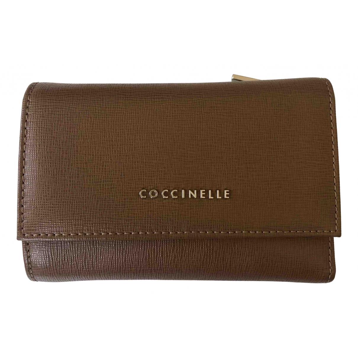 Coccinelle \N Portemonnaie in  Kamel Leder