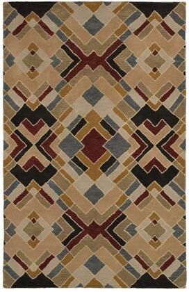 PANPR8144000408RD Pandora PR8144-8' x 8' Hand-Tufted Hard + Fine-Twist New Zealand Wool Blend Rug in Beige  Round