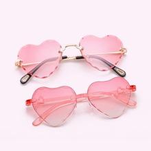 2pcs Parent-kids Heart Design Sunglasses