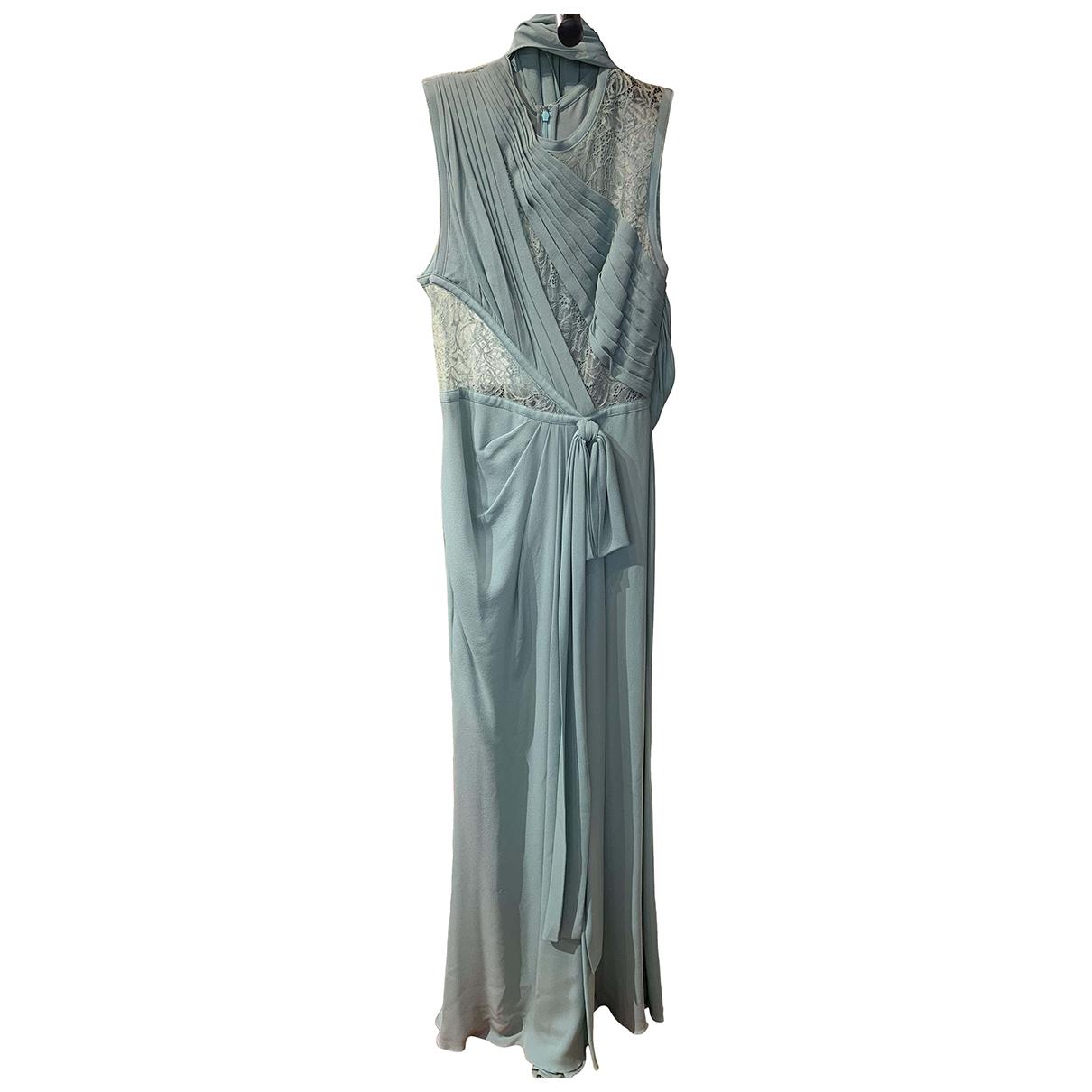 Elie Saab \N Kleid in  Blau Seide
