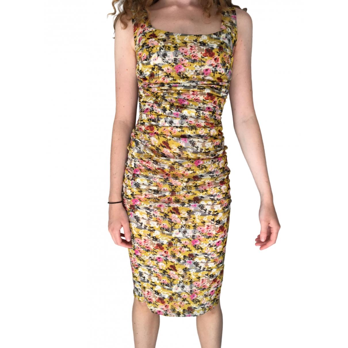 Dolce & Gabbana \N Kleid in  Gelb Seide