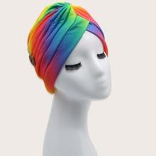 Colorful Button Decor Turban Hat