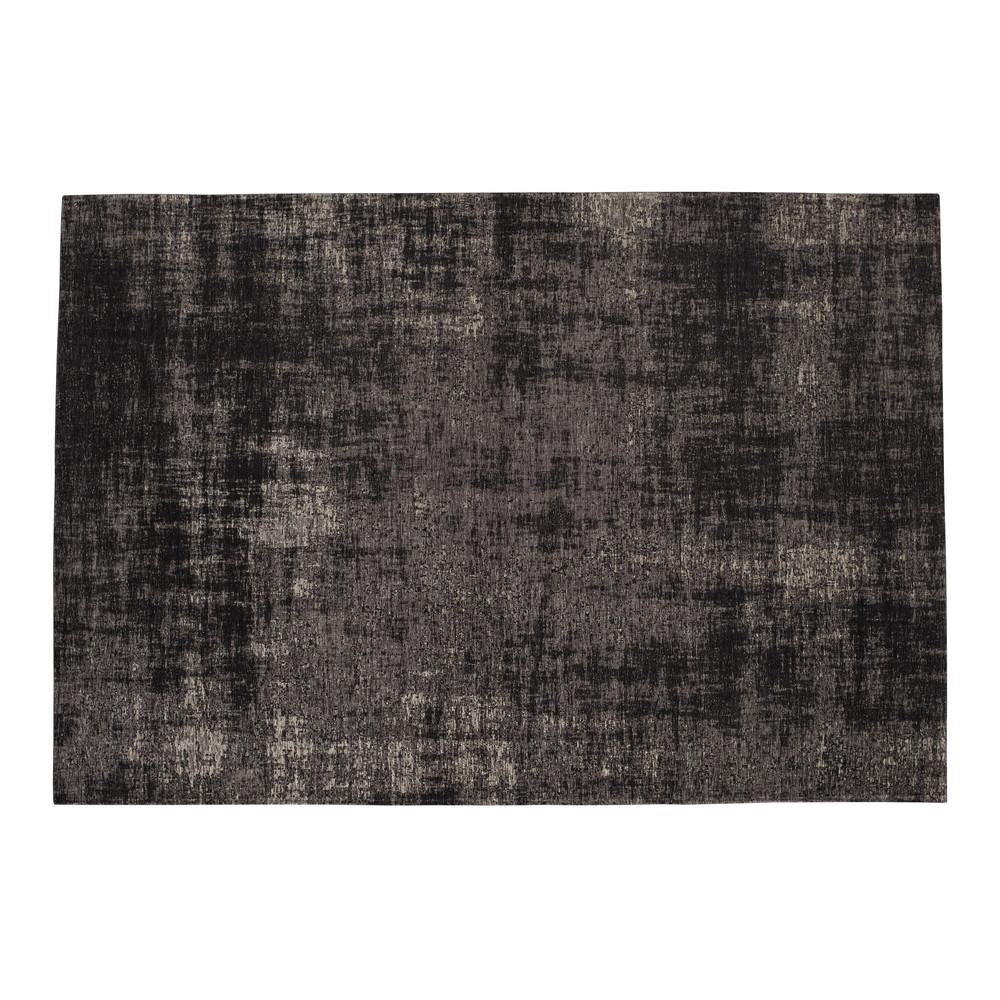 Baumwollteppich, 140 x 200 cm, schwarz