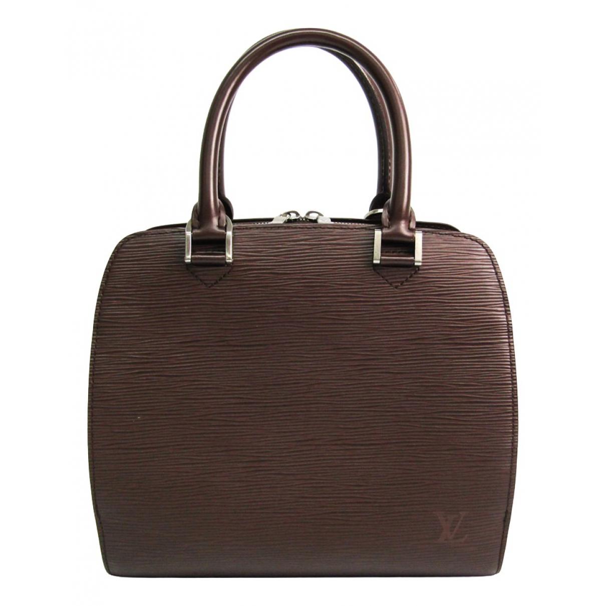 Louis Vuitton - Sac a main Pont Neuf Vintage  pour femme en cuir - marron