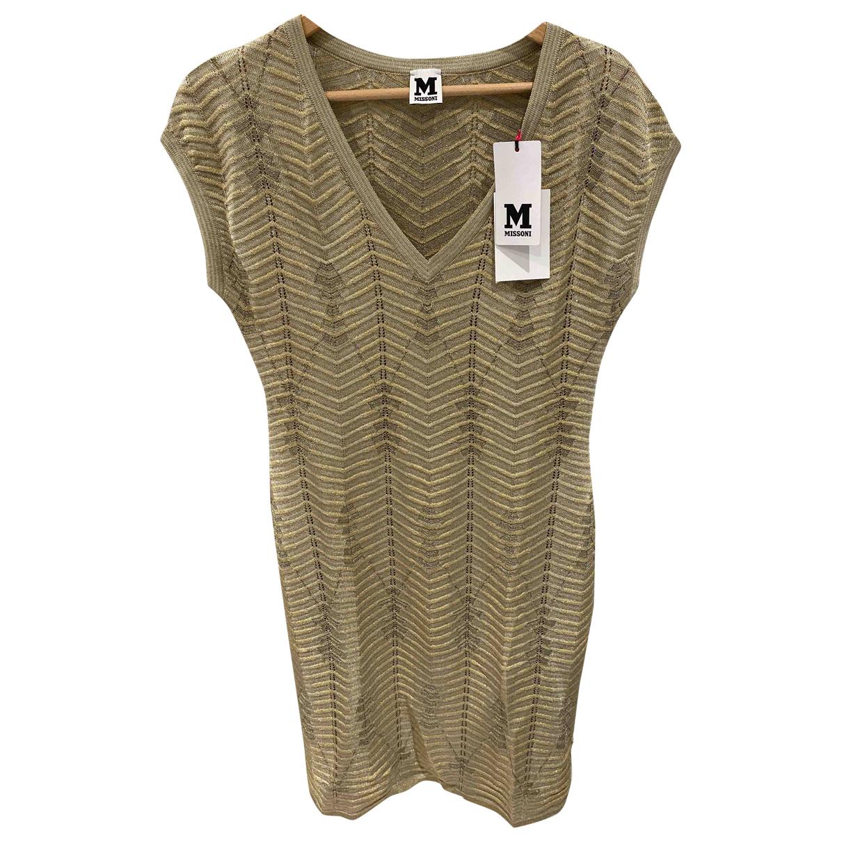 M Missoni N Gold Glitter dress for Women 40 FR