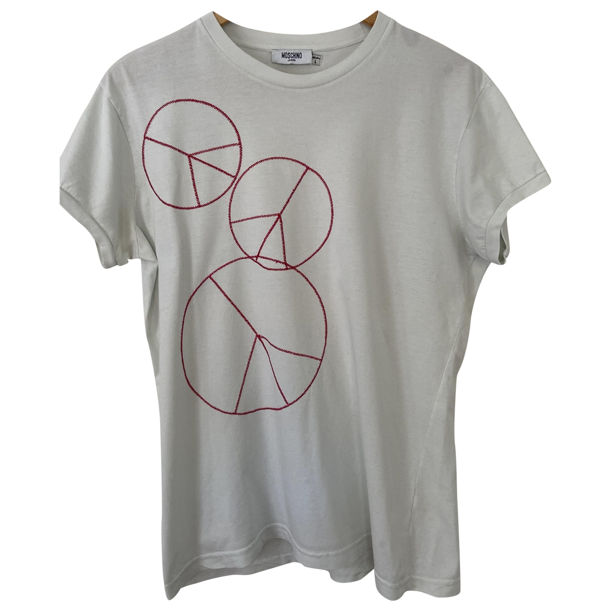 Moschino \N Ecru Cotton T-shirts for Men L International