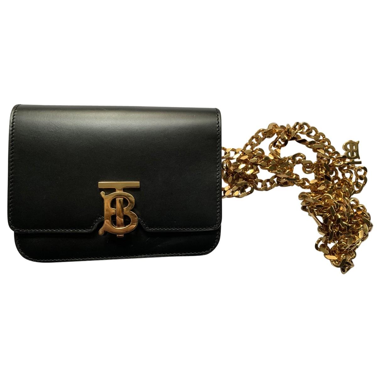 Burberry TB bag Black Leather handbag for Women \N