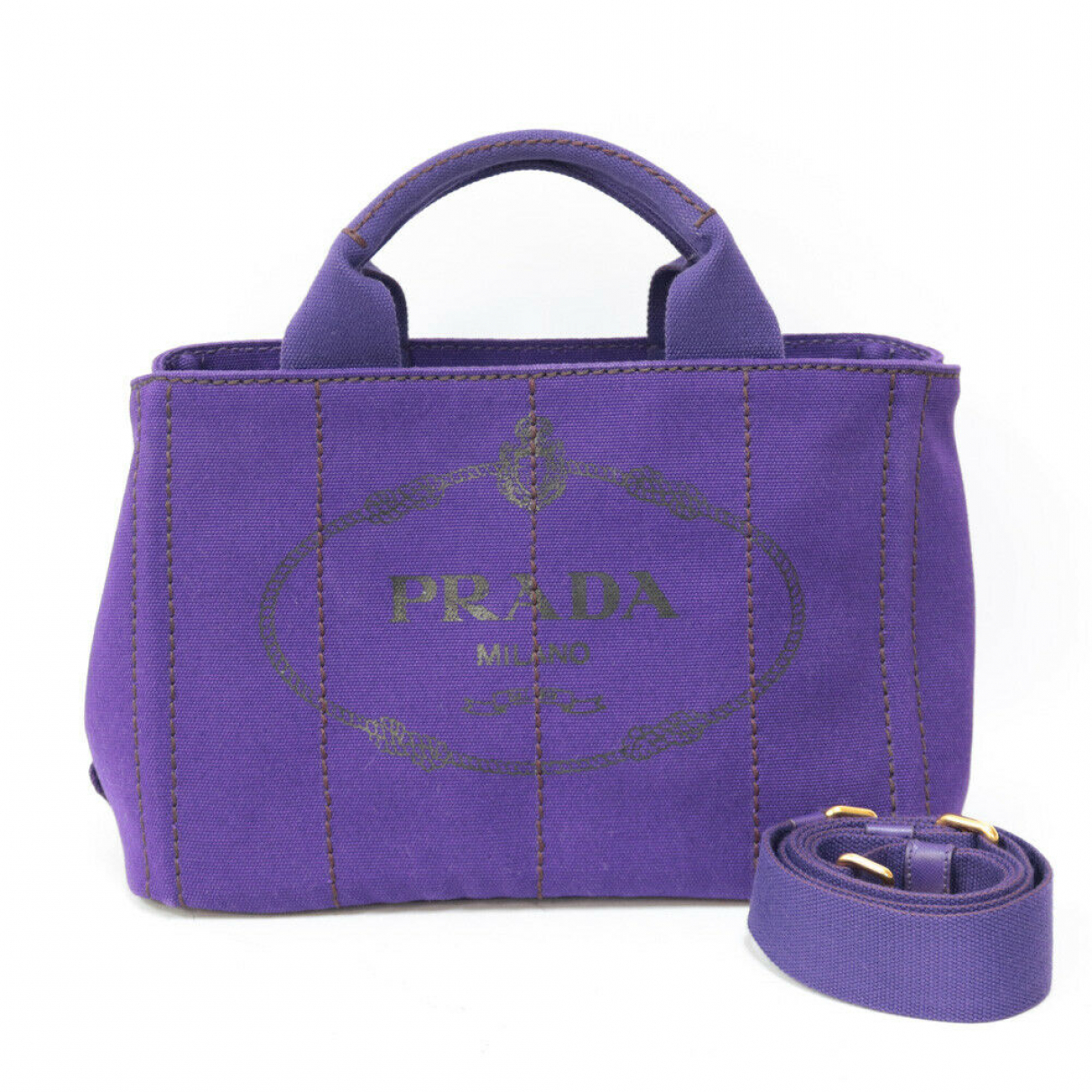 Prada N Purple Leather handbag for Women N