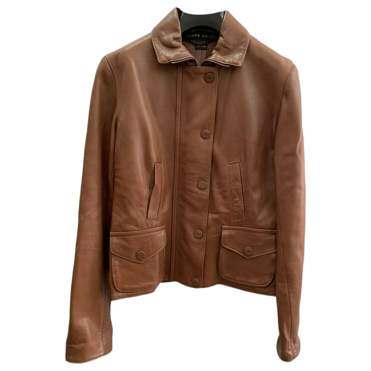 Ralph Lauren \N Brown Leather Leather jacket for Women 42 IT