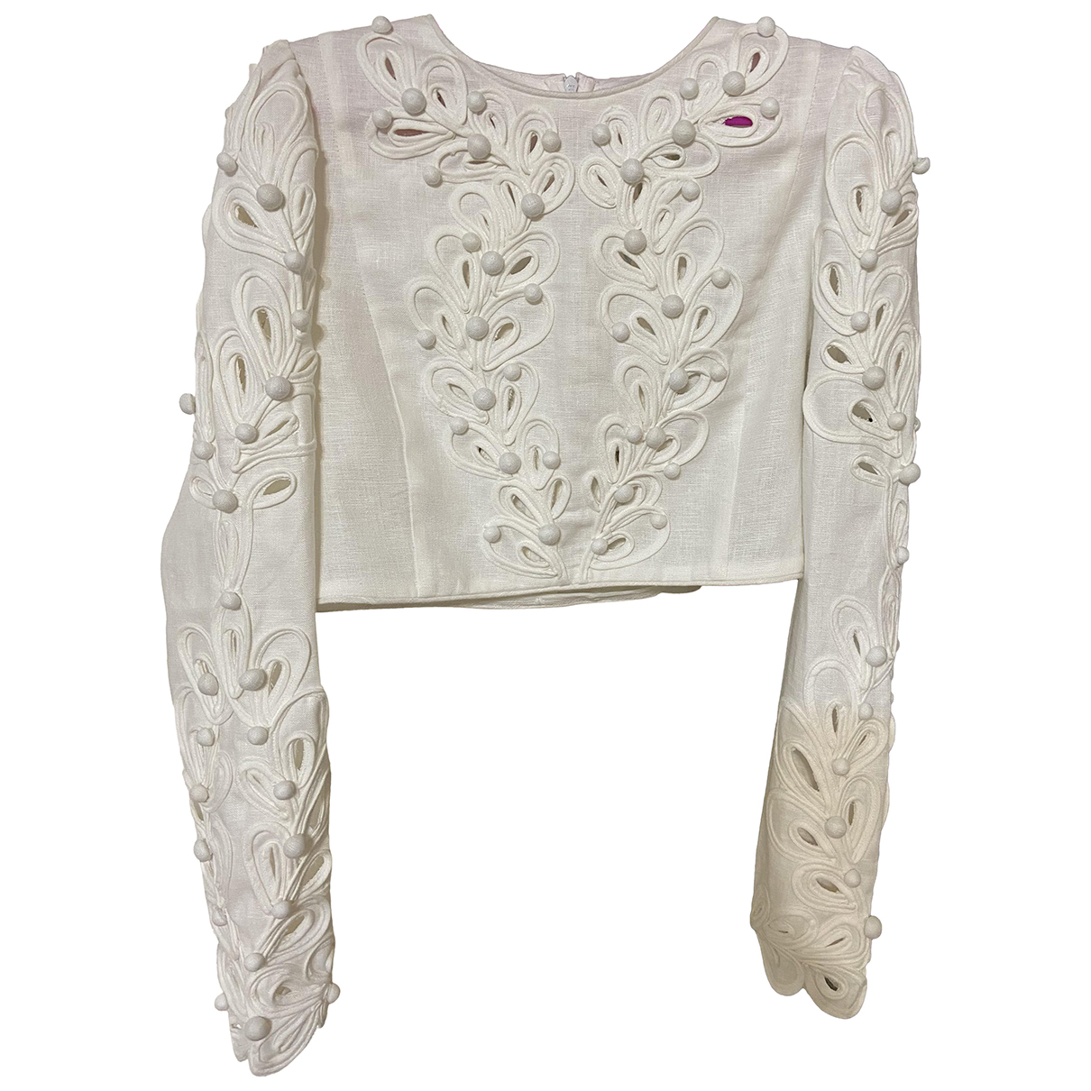 Zimmermann - Top   pour femme en lin - blanc