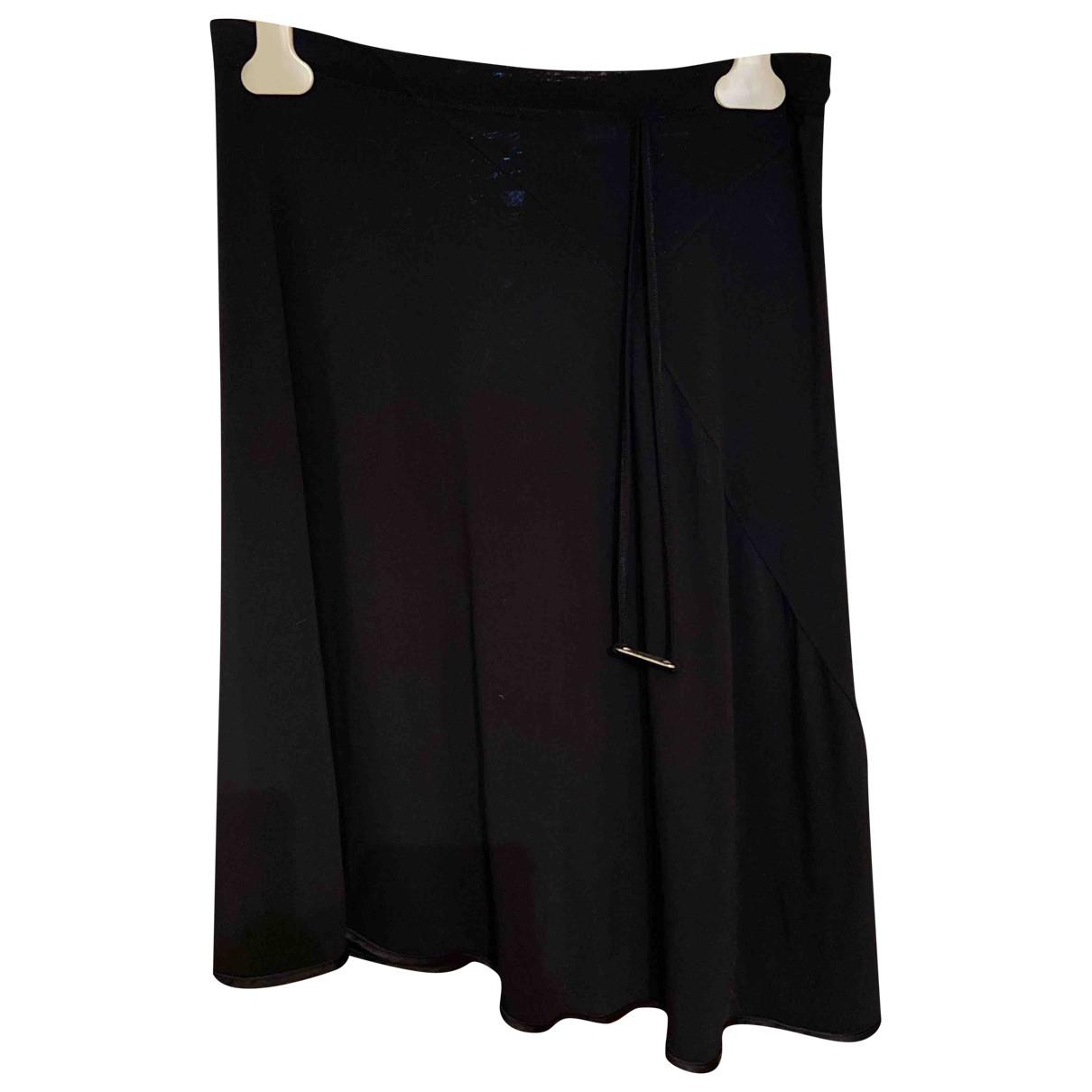 Roberto Cavalli \N Black Cotton skirt for Women 42 IT
