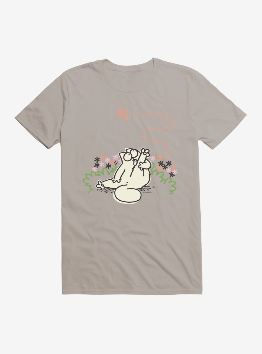Simon's Cat Reaching For Butterflies T-Shirt