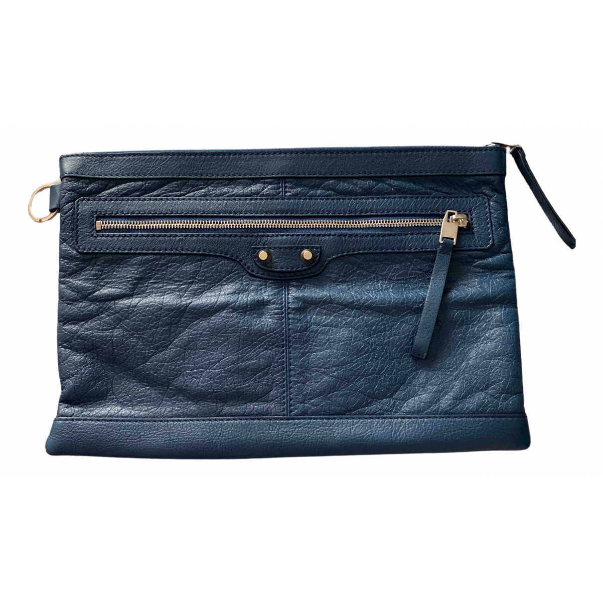 Balenciaga - Pochette   pour femme en cuir - bleu