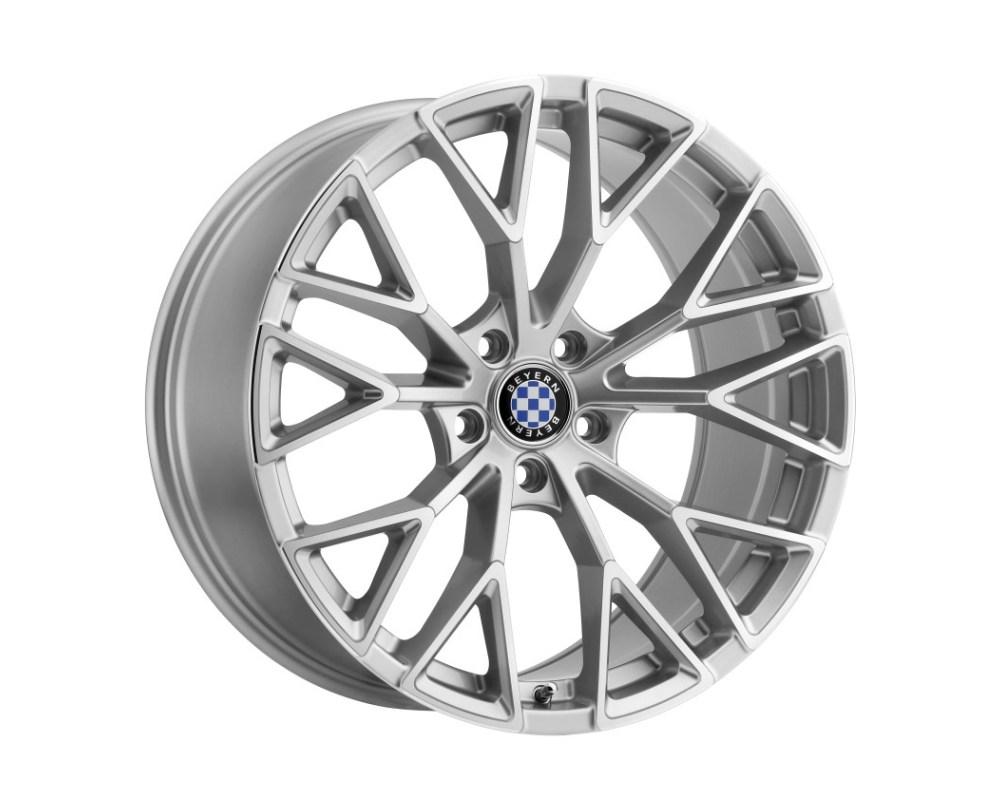 Beyern Antler Wheel 18x8.5 5x120 15mm Silver w/ Mirror Cut Face