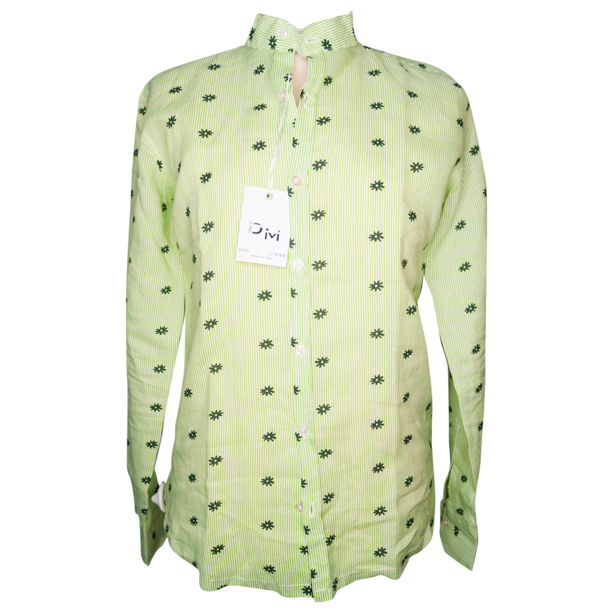 Non Signé / Unsigned \N Green Cotton Shirts for Men S International