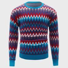 Pullover mit Chevron Muster