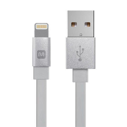 Cabernet Series Apple® MFi Certified Lightning™ to USB Charge & Sync Cable, White - Monoprice® - 6inch