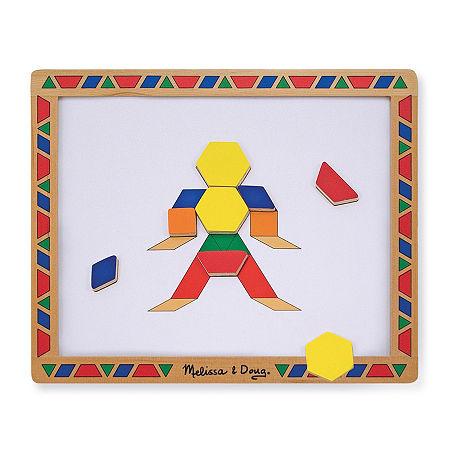 Melissa & Doug Magnetic Pattern Block Set, One Size , Multiple Colors