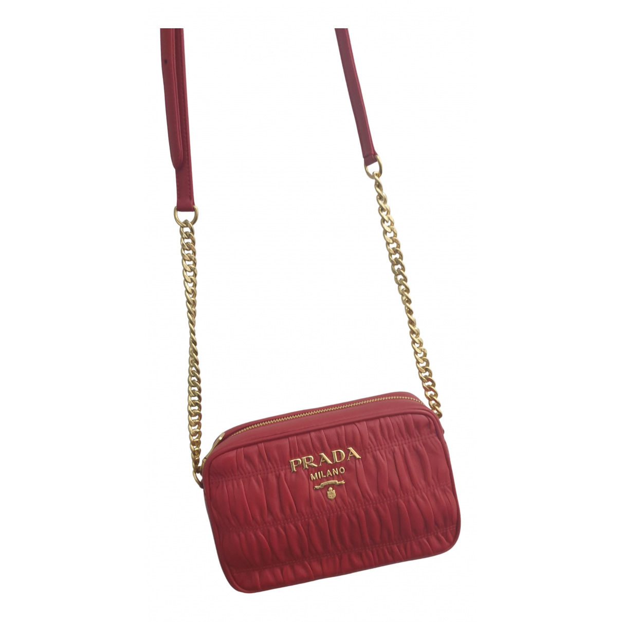 Prada N Red Leather handbag for Women N