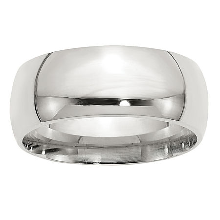 9M Sterling Silver Wedding Band, 10 , No Color Family