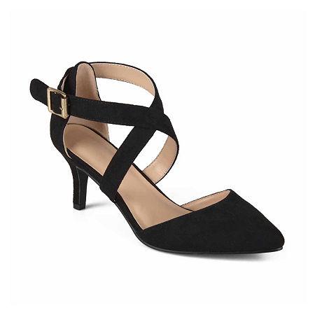 Journee Collection Womens Dara Pumps Stiletto Heel, 6 1/2 Medium, Black