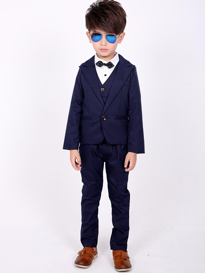 Ericdress Three-Piece 2 Color Plain Slim Boys Suit