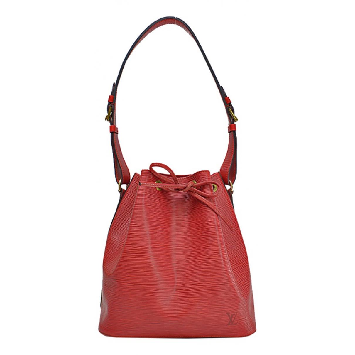 Louis Vuitton - Sac a main Bucket  pour femme en cuir - rouge