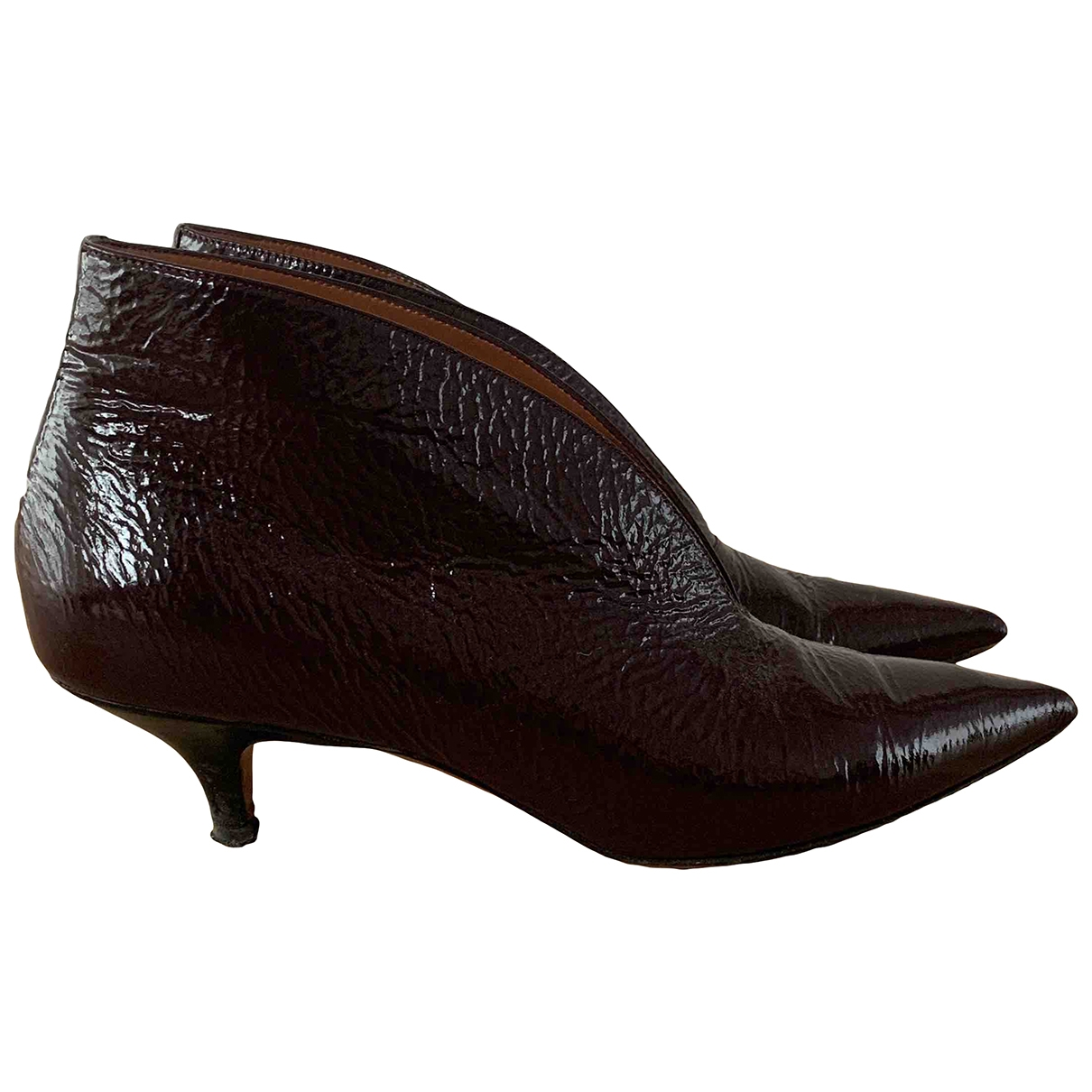 Celine \N Burgundy Leather Boots for Women 36 EU