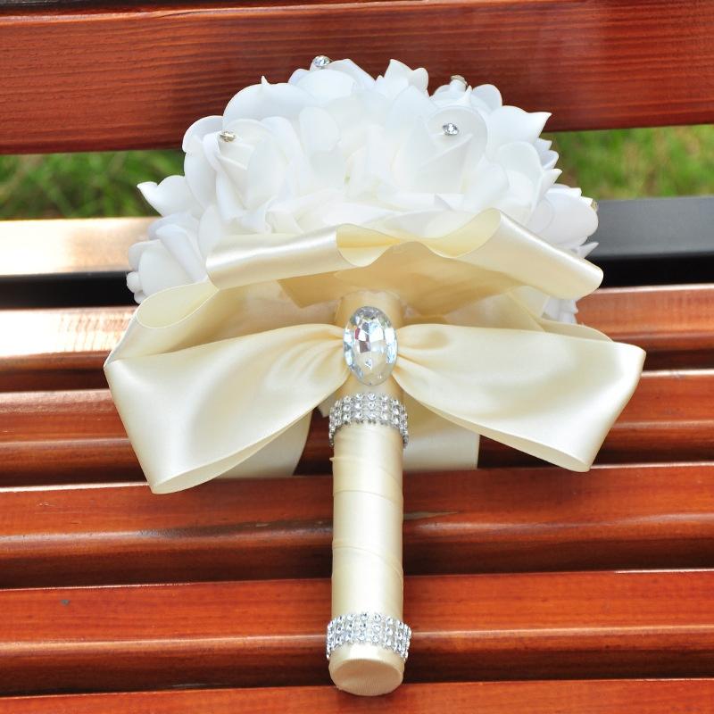 European Beading Rose Wedding Bouquet