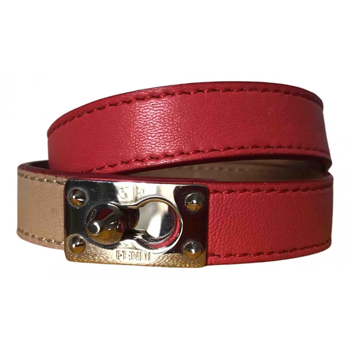 Fendi - Bracelet Serrure pour femme en cuir - multicolore