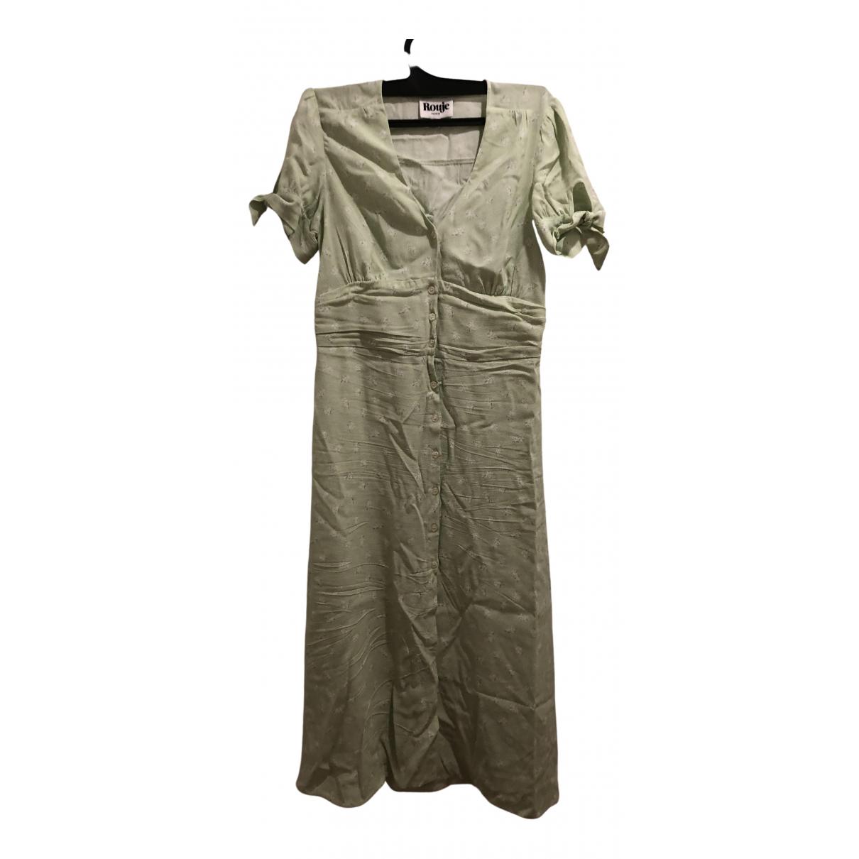 Rouje Spring Summer 2020 Green dress for Women 38 FR