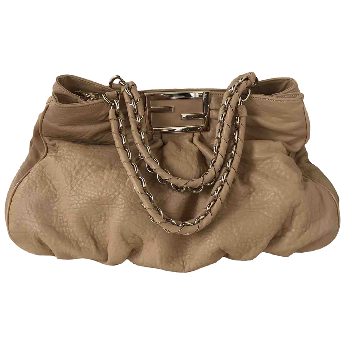Fendi \N Beige Leather handbag for Women \N