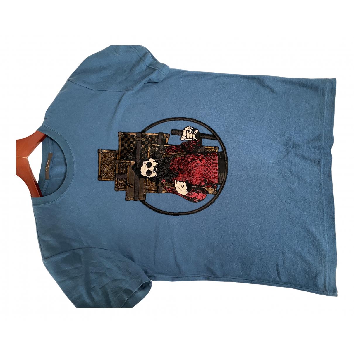 Louis Vuitton N Blue Cotton T-shirts for Men M International