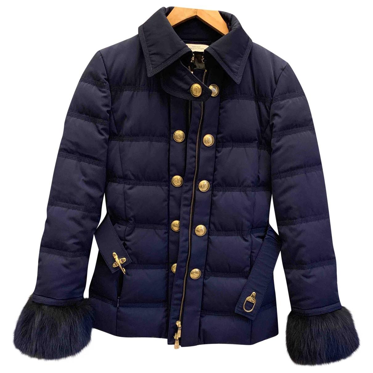 Versace - Manteau   pour femme - marine