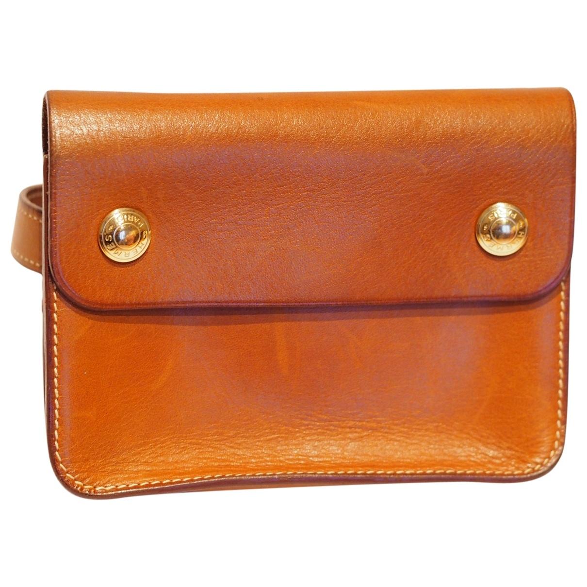 Hermès \N Camel Leather Clutch bag for Women \N