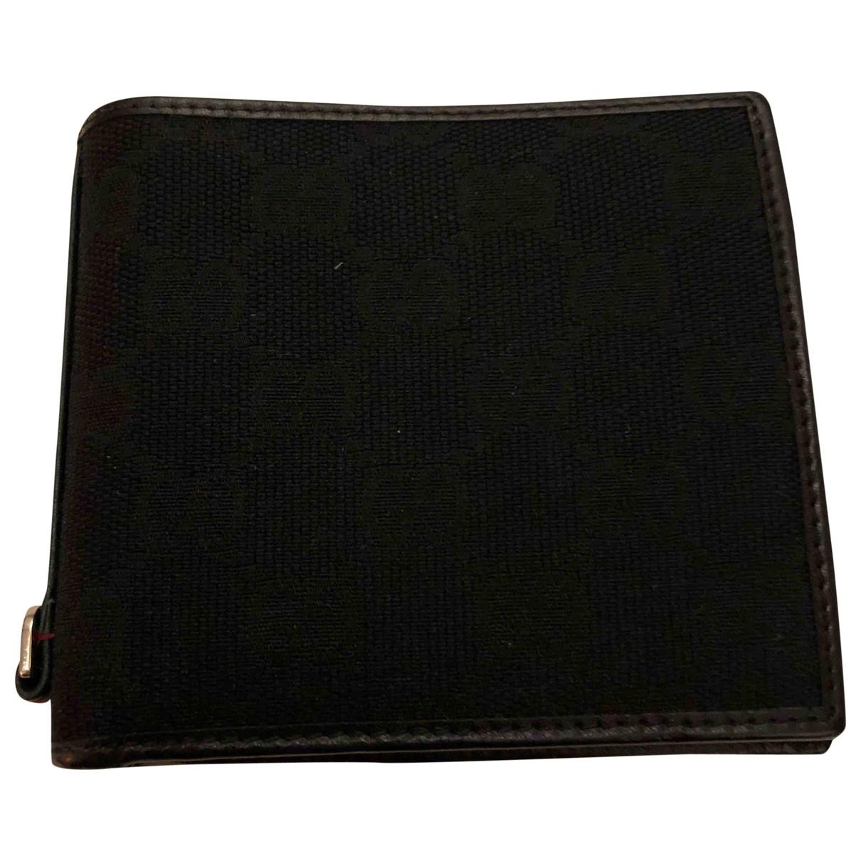 Gucci \N Black Cloth Small bag, wallet & cases for Men \N
