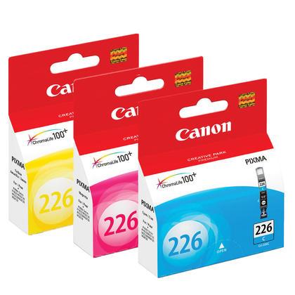 Canon PIXMA MG5220 couleur cartouches encre C/M/Y originales, ensemble de 3 paquet