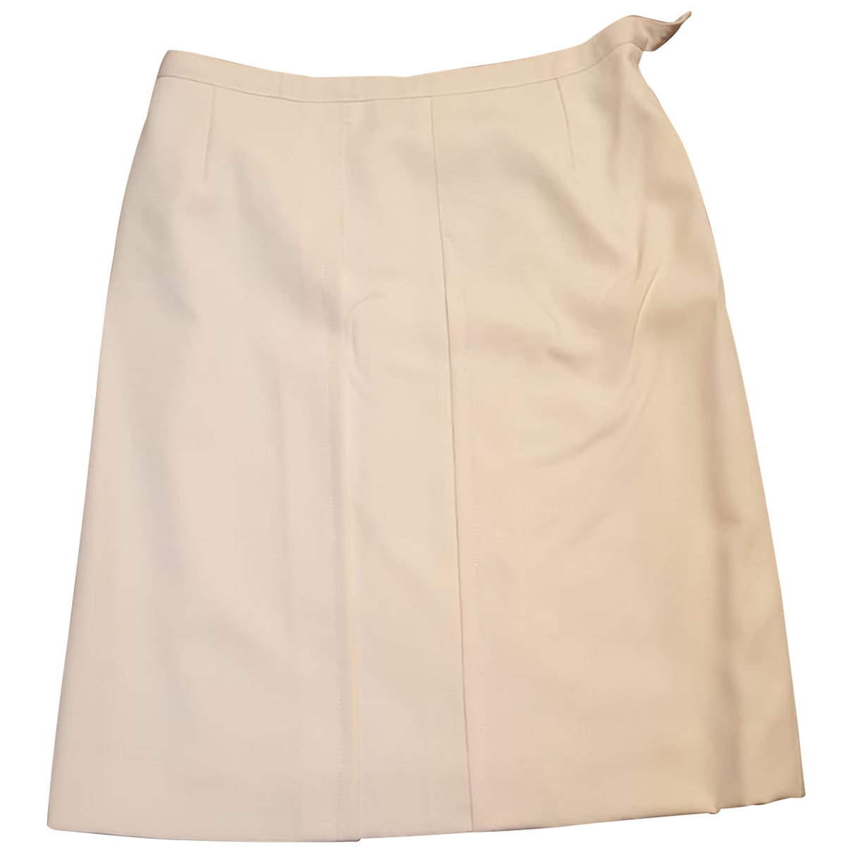 Non Signé / Unsigned \N White Cotton skirt for Women 40 IT